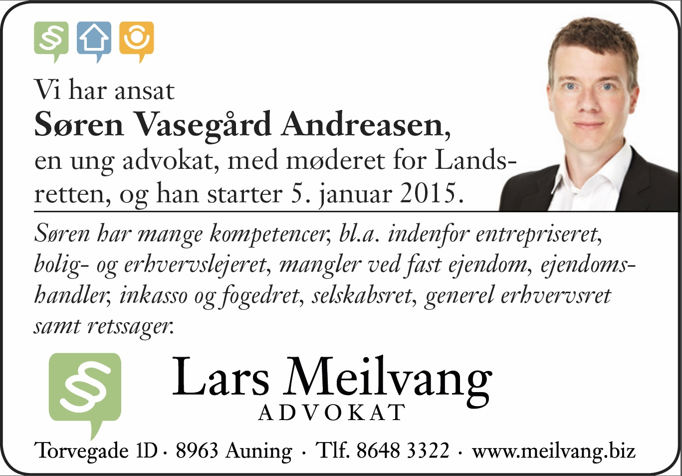 Advokat (L) Søren Vasegaard Andreasen